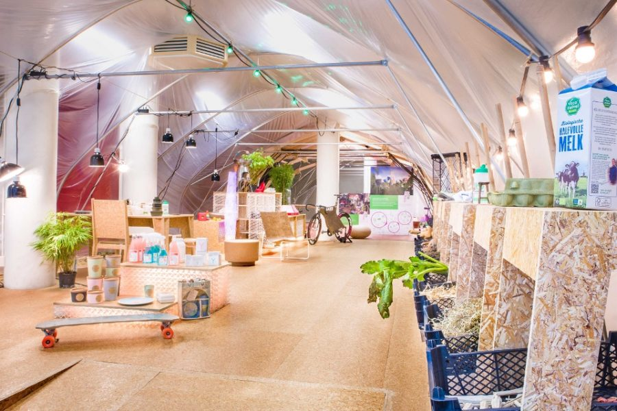 Biobased pop-up store